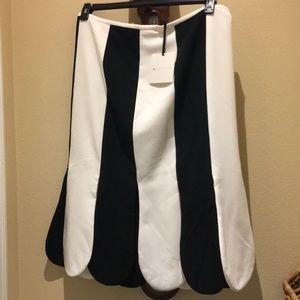 VictoriaBeckham for Target BlackWhite Petal Skirt